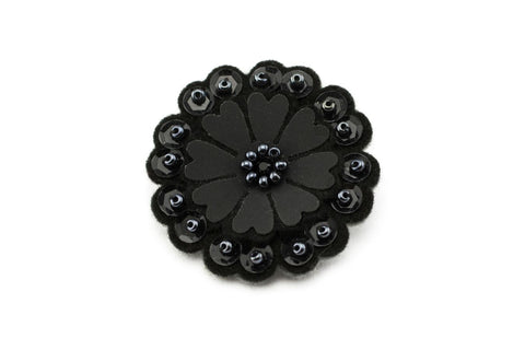 Sparkly Flower - Pitch Black