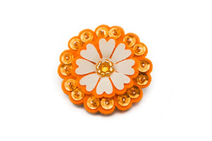 Sparkly Flower - Juicy Orange