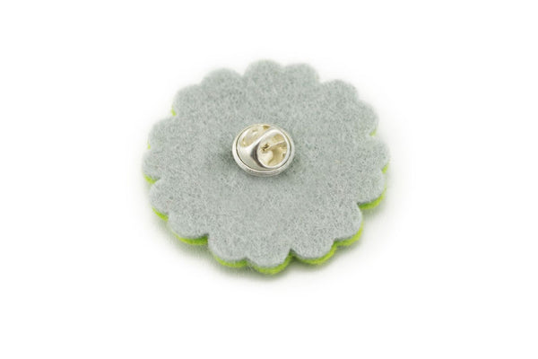Sparkly Flower - Apple Green