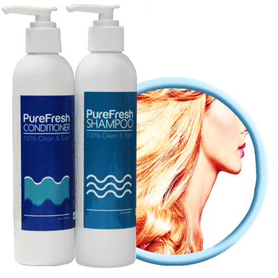 PureFresh Shampoo & Conditioner Combo Set - 240ml x 2 - Biosense Clinic