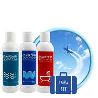 PureFresh Travel Set Package - Shampoo 60 ml, Conditioner 60 ml, Body Wash 60 ml - Biosense Clinic