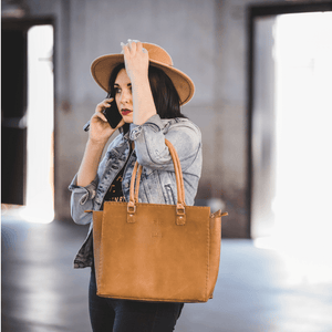 Naomi Handbag - Cognac Collection - SWISH & SWANK
