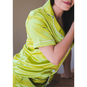 Short Satin Nightwear - Citrus - SWISH & SWANK