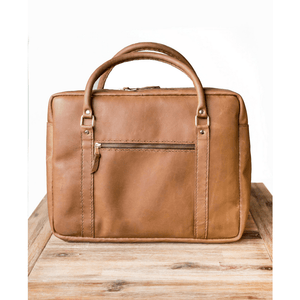 Boaz Briefcase - Tan - SWISH & SWANK