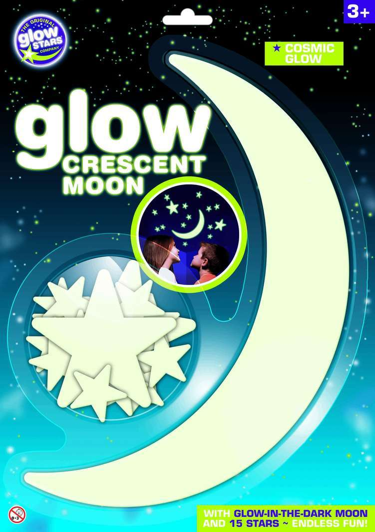 Glow-in-the-Dark Crescent Moon