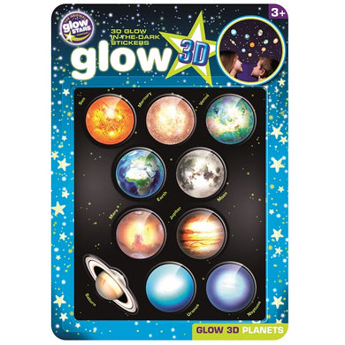 3D Glow-in-the-Dark Planet Stickers