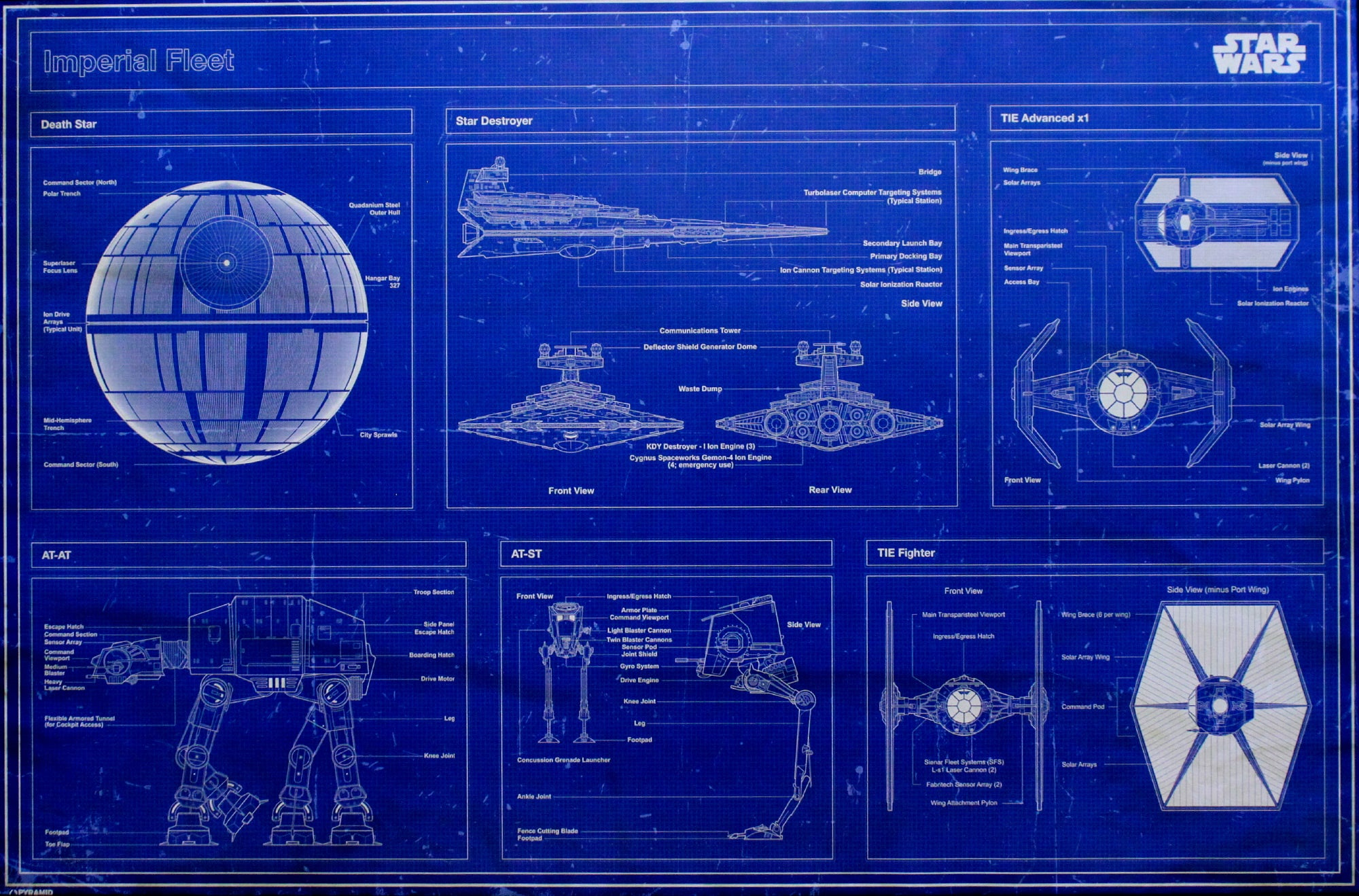 Beroemd Star Wars Imperial Blueprints Poster – New Zealand Space Shop #BR21
