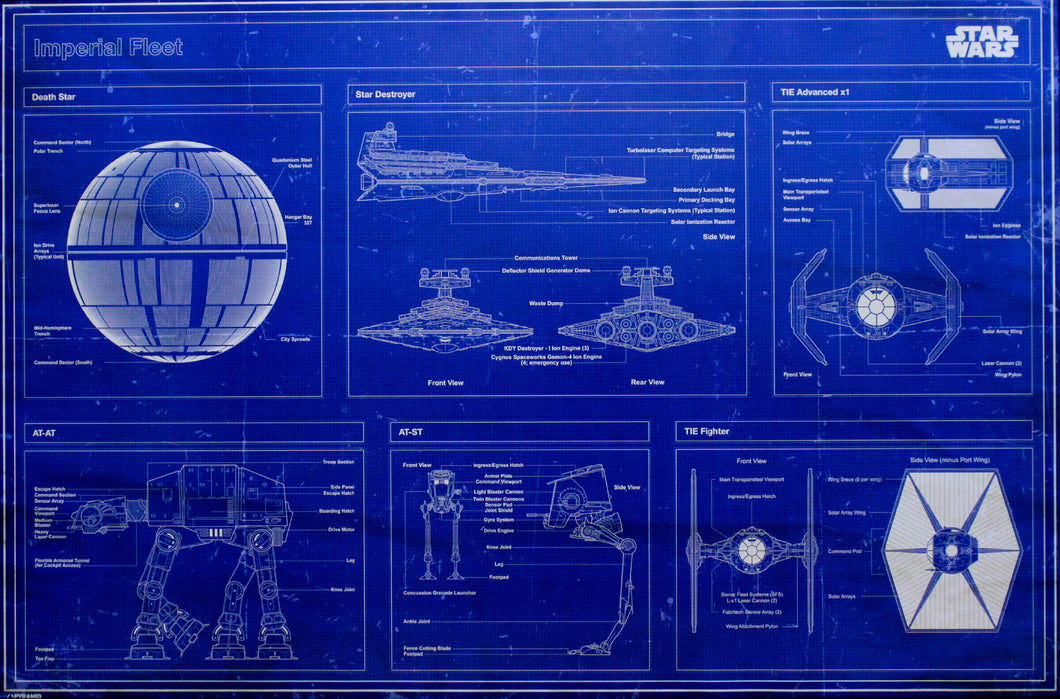 Star Wars Imperial Blueprints Poster