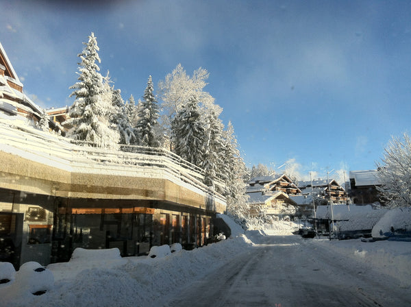 Jingle bells at Crans Montana, Guarda Golf luxury hotel and residences
