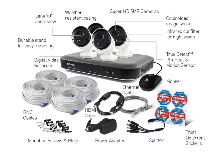 Swann - 8 Channel 5MP DVR Security System