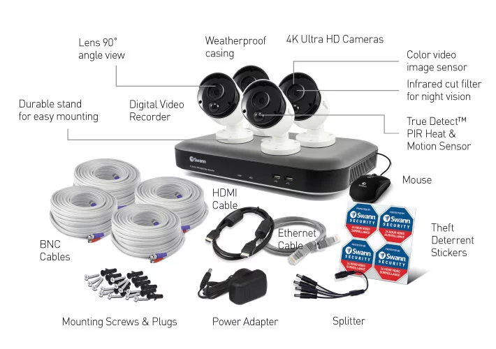 Swann - 8 Channel 4K DVR Security System