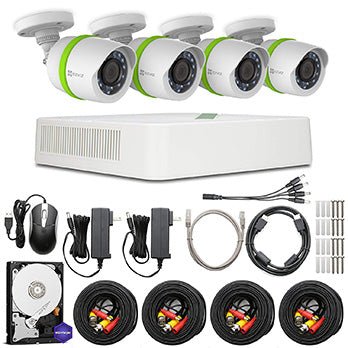 Ezviz 4 Channel 1080p Wired Kits with 4 Cameras and 1TB HDD