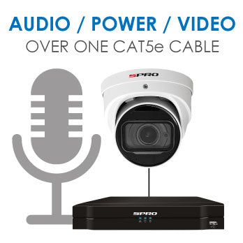 4K (8MP) SPRO IP CCTV Kit / 4 Channel with 2x 4K (8MP) Cameras With Mic, Starlight and 1TB HDD