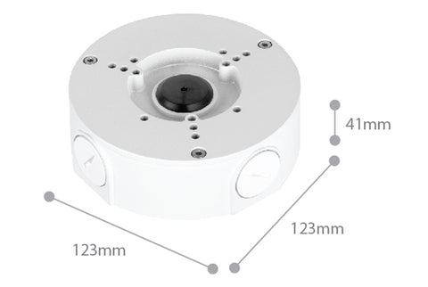 Dimension of SPRO CCTV Camera Base 05 - White