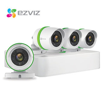 1080P Ezviz CCTV Kits / 8 Channel with 4 X HD Bullet Cameras and 1TB HDD
