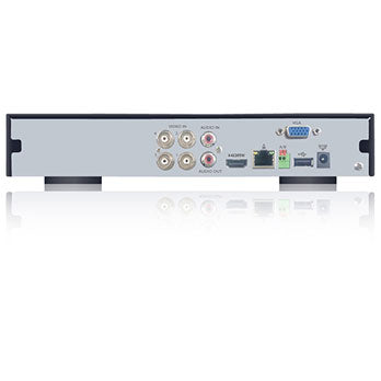 SPRO B2 - 6 CHANNEL 1080P 5 IN 1 FUNLESS DVR - Rear view with inputs