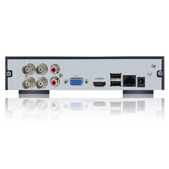 SPRO B1 - 4 + 1 Channel 1080N HD-CVI DVR - rear view with inputs