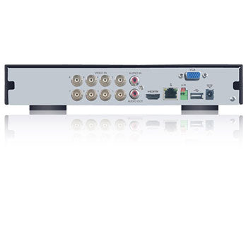 SPRO Eight - 12 CHANNEL 1080P 5 IN 1 DVR - Rear view with inputs