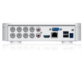 SPRO - 8 Channel 1080N HD-CVI DVR - rear view with inputs