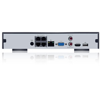 4K (8MP) SPRO IP - 4 channel IP NVR - REAR