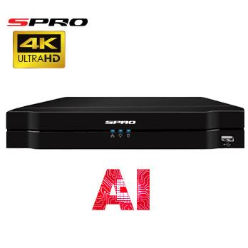 4K (8MP) SPRO IP - 8 channel IP NVR with AI Technology