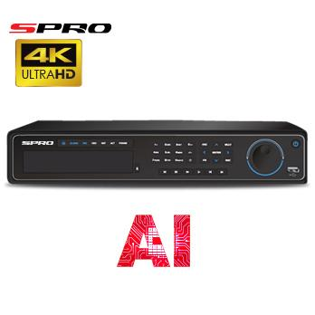 4K (12MP) SPRO IP - 16 channel IP NVR with AI Technology