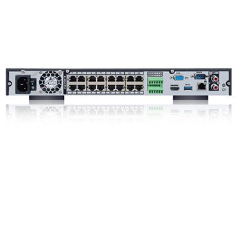 SPRO IP - 16 channel IP NVR - Rear View with inputs
