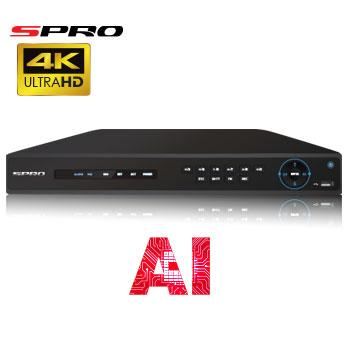 4K (8MP) SPRO IP - 16 channel IP NVR with AI Technology