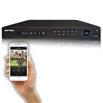 SPRO B3 4K (8MP) - 16 + 8 CHANNEL - 5 IN 1 DVR - Viewable from most mobile devices