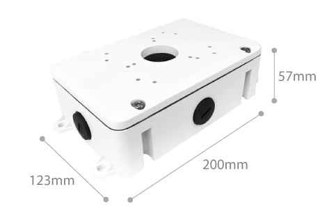 Dimension of SPRO CCTV Junction Box 02 White