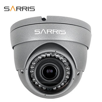 Grey 2MP HD CCTV Dome Camera with Nightvision