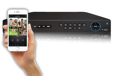4K (8MP) SPRO IP - 16 channel IP NVR - viewable from most mobile apps