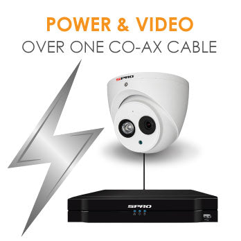 POWER & VIDEO OVER ONE CO-AX CABLE