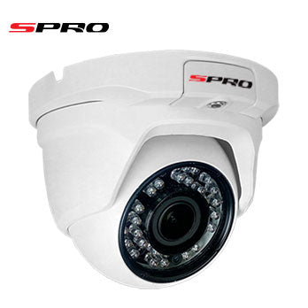 2MP 1080p white dome camera with auto-focus lens