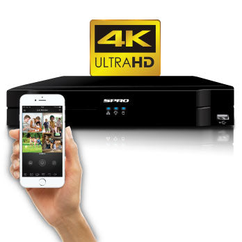 SPRO 8 Channel 4K (8MP) 5 IN 1 DVR