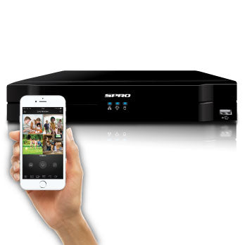 SPRO Eight - 12 Channel 1080P 5 IN 1 DVR - Viewable from most mobile devices
