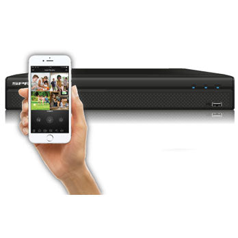 SPRO B4 4K (8MP) - 8 + 4 CHANNEL - 5 IN 1 DVR with POC Technology - Viewable from most mobile devices