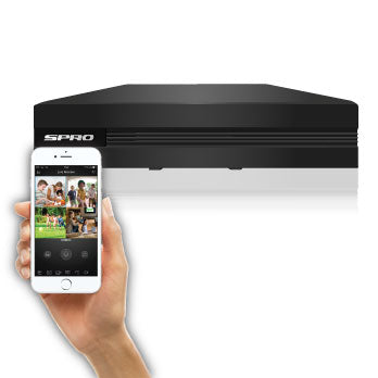 SPRO B1 - 4 + 1 Channel 1080N HD-CVI DVR - viewable from most mobile devices