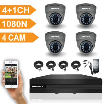 SPRO 4 Channel 1080N DVR with 4 HD Camera Kit