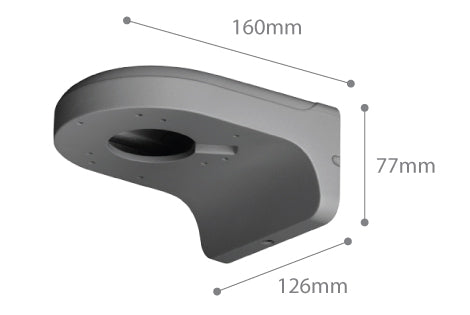 Dimension of SPRO CCTV Wall Bracket 02 - Grey
