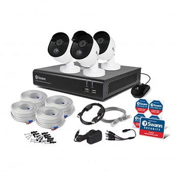 1080P Swann Kits / 8 Channel with 4 X HD Camera and 32GD SD Card, Heat & Motion Sensing
