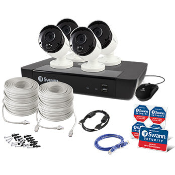 4K (8MP) Swann IP CCTV Kit / 8 Channel with 4X4K Bullet Camera