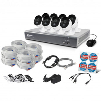Swann 1080P FULL HD DVR SYSTEM, 16 CHANNEL-8 CAMERAS