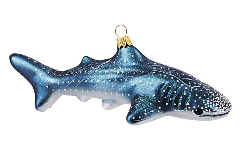 whale • glass ornament