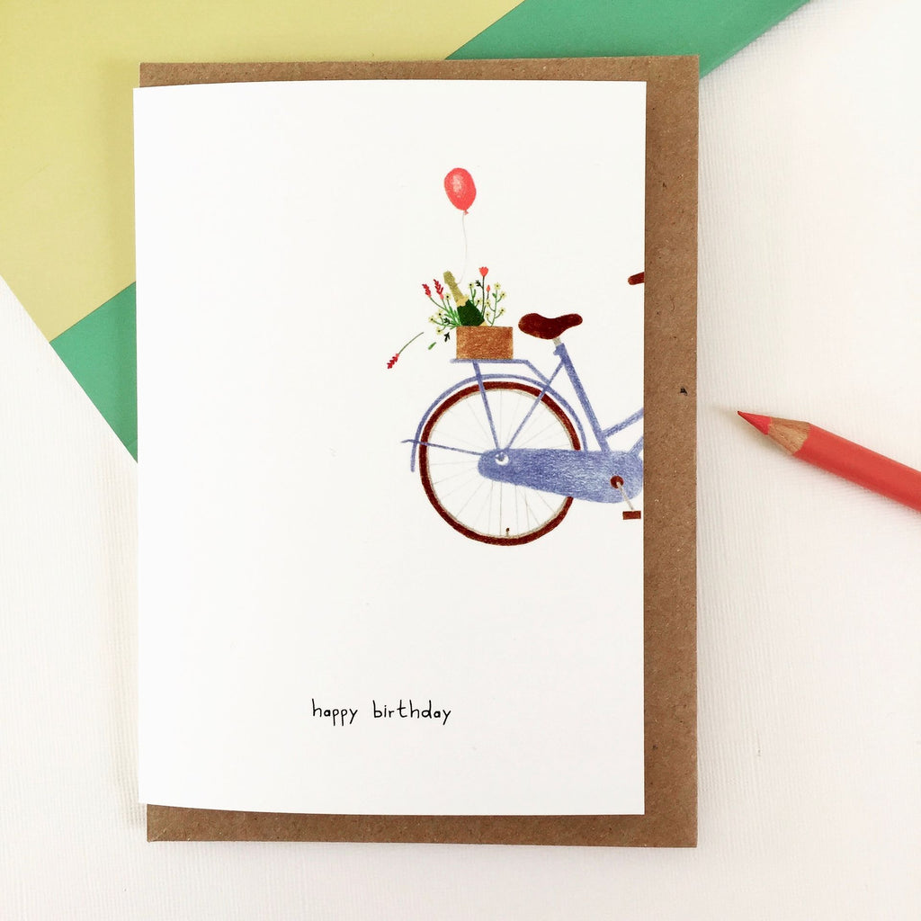 Greeting Card • bubbles on bike