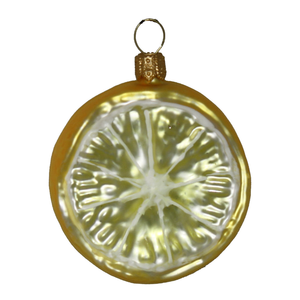 lime slice • glass ornament