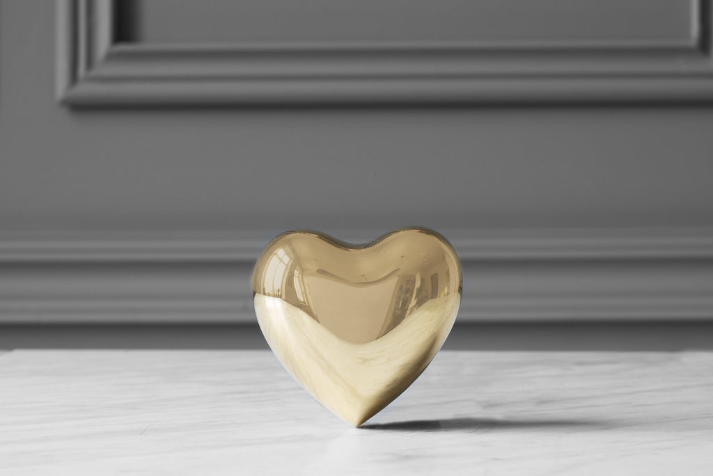 Heart, brass - paper weight