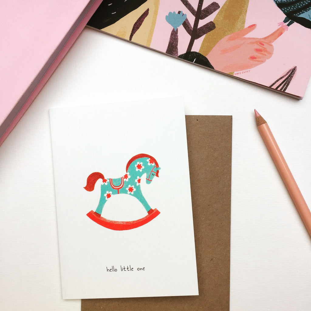 Greeting Card • rocking horse