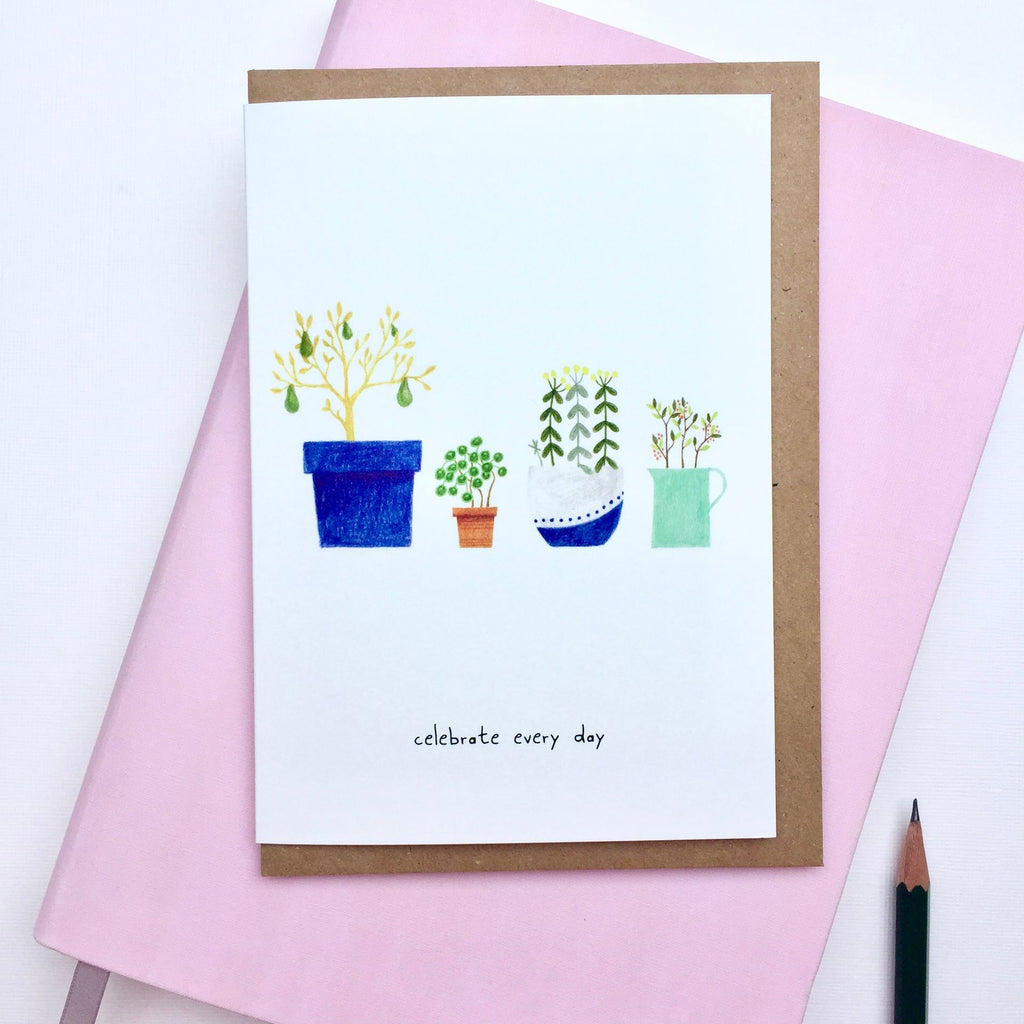 Greeting Card • plant pots