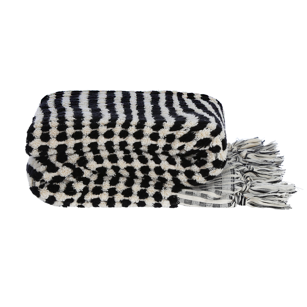 Ahududu / bath towel - black